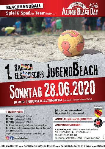 1. Badisch-Elsässisches Jugend-Beach-Turnier am 28.06.2020 in Altenheim