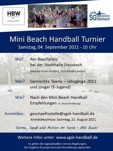 Mini Beach Handball Turnier am 04. September in Steinbach