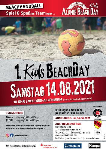"""Der TuS Altenheim veranstaltet in Kooperation mit dem SHV am 14.08.2021 das 1. """"Kids Beach Day"""" Turnier"""