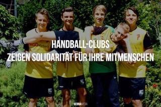 Handball-Clubs zeigen Solidarität für ihre Mitmenschen
